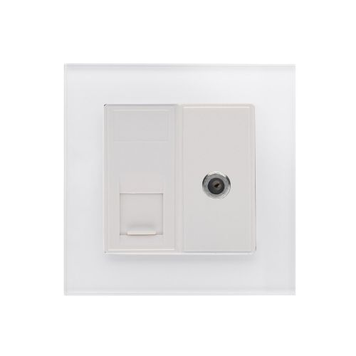 RetroTouch Cat5E/Sat Socket White PG 01808